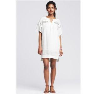 Banana Republic Eyelet White Linen Dress size S